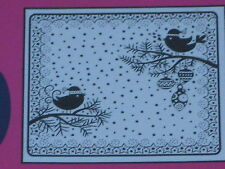 "CRAFTS TOO EMBOSSING FOLDER  ""SNOW BIRDS"" CTFD4026  FOR  CARDS & SCRAPBOOKING"