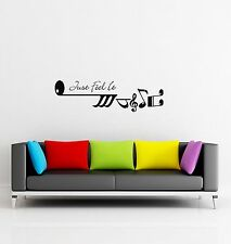 Wall Sticker Music Qoute Words Just Feel It for Bedroom z1257