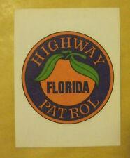 VECCHIO ADESIVO - PANINI - HIGHWAY FLORIDA PATROL - ANNI 80 (CC1)