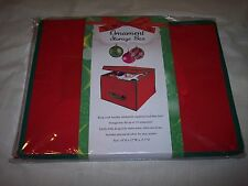 "Christmas Ornament Storage Box, Holds 18, 10""H x 12""W x  15.5""D"