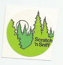 Vintage: 3M  Scratch & Sniff Sticker -  PINE TREES