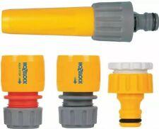 More details for hozelock 2355 garden hose pipe starter set kit tap adapter connectors nozzle diy