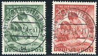 BERLIN 1951, MiNr. 80-81, ideal gestempelt mit Vollstempel, Mi. 70,-