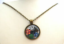 """New Cabochan Glass Pendant + 18-20"""" Bronze Necklace Free Gift Bag 06"""