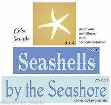STENCIL Seashell Seashore Starfish Ocean Lake House Cabin Nautical Bathroom sign