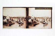 Saïda Algérie Afrique du Nord Plaque de verre stereo 6x13cm Vintage ca 1910
