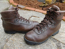 VINTAGE TECNICA TREKKING BROWN LEATHER HIKING BOOTS SIZE 10.5 M