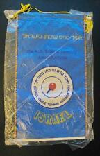 TABLE TENNIS FEDERATION OF ISRAEL OFFICIAL PENNANT 30X17CM SEALED