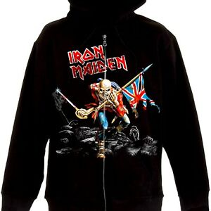 Iron Maiden - Scuffed Trooper Official Licensed Zip Up Hoodie