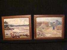 Tableaux bretons miniatures 1912 par Lornac ou Lortac