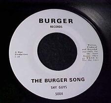 SHY GUYS The Burger Song RARE GARAGE PROMO ONLY 45 WKNR Detroit SCOTT REGAN tc