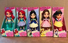 Disney Princess Mini Toddler Doll Set - Ariel x 2, Mulan, Belle & Snow White