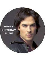 7.5 Damon Salvatore Vampire Diarys Glassa Commestibile Compleanno Cake Topper