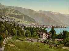 Lac Léman. Clarens-Vernex-Montreux. PZ vintage photochromie, photochrom photoc