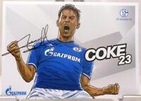 Coke + Autogrammkarte 2017/2018 + FC Schalke 04 + AK201876 +