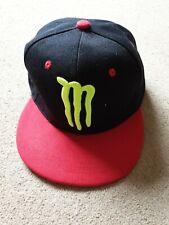 Black Monster Energy Baseball Cap Adult junior size adjustable back