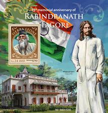 Sierra Leone 2016 MNH Rabindranath Tagore 1v S/S Nobel Prize Literature Stamps
