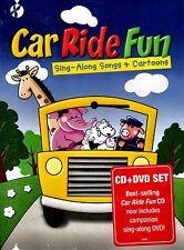 NEW DVD + CD COMBO //  CAR RIDE FUN - SING ALONG SONGS & CARTOONS //  91 min