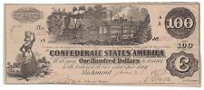 U.S. (Confederate) - June 27th, 1862 $100.00 Banknote