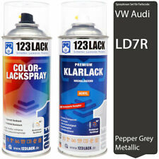 Autolack Lackspray Set VW Audi LD7R PEPPER GREY Metallic Spray + Klarlack