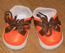 New Orange Vinyl Sneakers Fit American Girl, Bitty Baby & Similar-sized Dolls