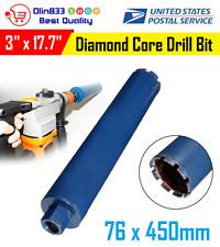 "3"" inch Wet Diamond Core Drill Bit for Concrete Masonry M22 Thread Premium Blue"