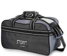 Storm Premium 2 Ball Shoulder Tote Bowling Bag Grey Plaid