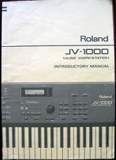 Roland JV-1000 Music Synthesizer Workstation Original Owners Introductory Manual
