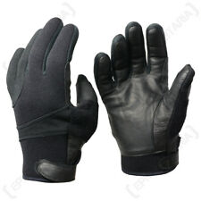 Neoprene Gloves with Leather Palms - Kevlar Lined Cycling Work Water Resistant