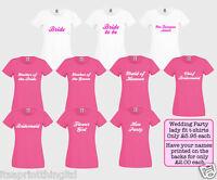 Personalised Custom Printed Ladies Hen Night, Bride Wedding Party Night T-Shirt
