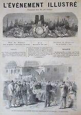 SALTIMBANQUES CIRQUE  GRAVURES JOURNAL L ÉVÉNEMENT ILLUSTRE N° 32 de 1871