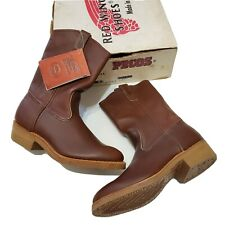 1990s Red Wing 1155 Pecos Nailseat Pull On Work Boots DeadStock Vintage Usa Made