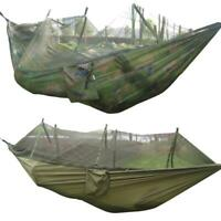 Double Person Travel Hammock Camping Tent Patio Hanging Hammock Bed Mosquito Net