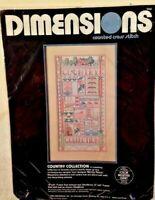Sampler Counted Cross Stitch Country Collection Unopened Kit by Dimensions