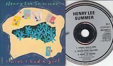 Henry Lee Summer  CD-SINGLE I WISH I HAD A GIRL (c) 1986/88  CARDSLEEVE