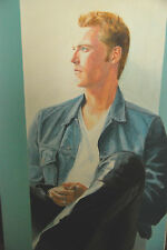 Ronan Keating autographed original painting + proof photos 100% Genuine  BOYZONE