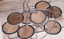 "25 Primitive Grungy Small 1 1/4"" Metal Rim Hang Tags 4 Dolls Scrapbook Ornies"
