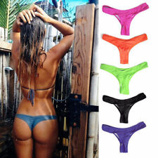❤ Womens Brazilian G-String Bikini Bottoms Swimwear Scrunch Thong Sizes 8-14 ❤