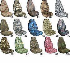 Jeep Wrangler CJ YJ TJ Camo 31 Brown & Green Seat Covers Canvas Front Set