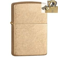 Zippo 28496 armor tumbled brass Lighter with PIPE INSERT PL