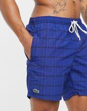 LACOSTE Check Swim Shorts   Royal Blue Medium & Large   RRP £70