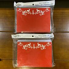 2 New Martha Stewart Christmas Card Kit 20 Cards Envelopes Seals Each Box