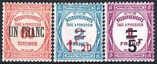 """FRANCE STAMP TAXE 63 / 65 """" SERIE 3 TIMBRES SURCHARGES """" NEUFS xx LUXE   M965"""