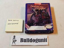 Destiny of an Emperor Box Only NES Nintendo NO GAME