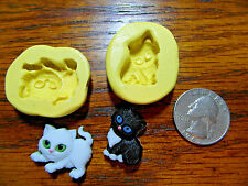 Kitten 2 set Silicone Mold Gumpaste Fondant Cake Chocolate clay  508