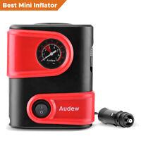 AUDEW Tire Inflator Car Air Compressor Electric Pump Portable Auto 12V DC