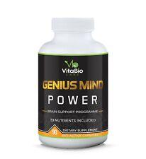 Mental Focus Nootropics Cognitive Enhancer 90 Capsules Brain Booster Supplements