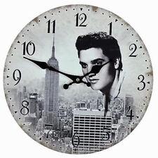 HOMETIME Elvis Presley Photo Glass Hanging Wall Clock Gift Kitchen Home Bar 30cm