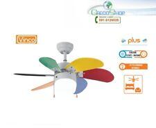 Agitatore/Ventilatore da soffitto con 6 pale multicolore 1 lampada Vinco - 70928