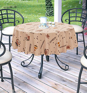 New Quality Polyester Coffee Tablecloth In Different Sizes, Rectangular Or Round